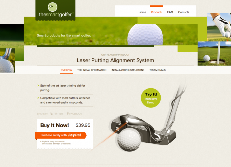 Landingpages unter der Lupe - The Smart Golfer