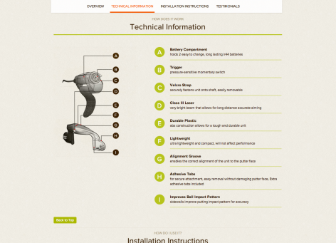 Landingpage Funktionen - The Smart Golfer