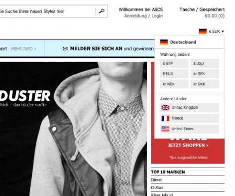 Internationalisierung E-Commerce IP-Detection
