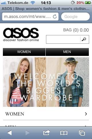Asos Mobile-Shop Start
