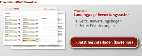 Download Landingpage Bewertungsraster