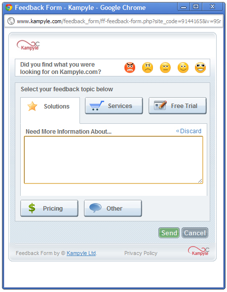 Tools zur Onlinebefragung - Kampyle Form