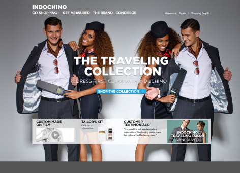 eCommerce Design Trends Indochino