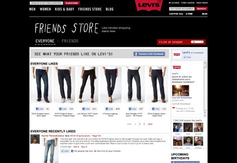 eCommerce Design Trends Levis