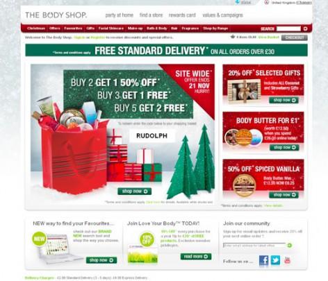 The Body Shop - weihnachtliche Inspirationen