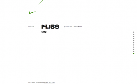 Nike Better World - Parallax Scrolling