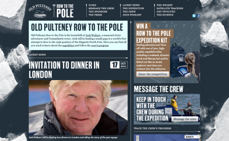 Row to the Pole  - Parallax Scrolling