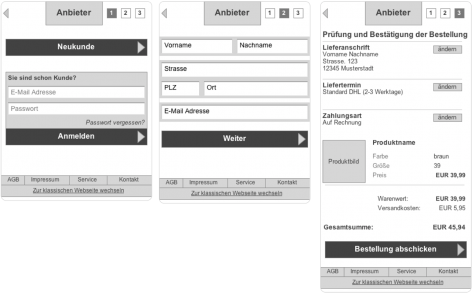 Mobile Commerce Pattern - Checkout