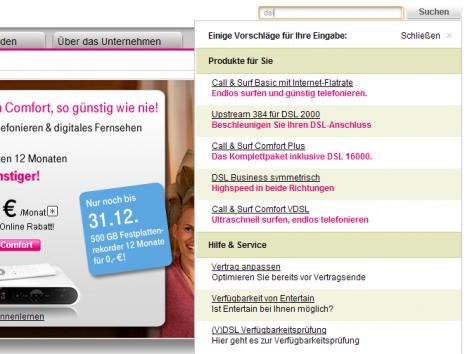 Auto-Suggest Telekom