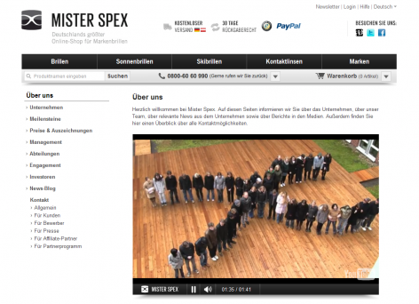 Mister Spex - Über uns Team