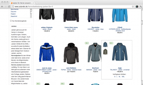 Quick Views Zalando