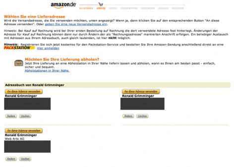 Denken vermeiden - amazon.de Checkout