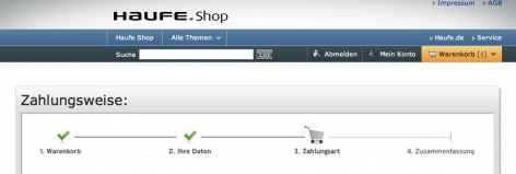 Progress Bar im Checkout - Haufe