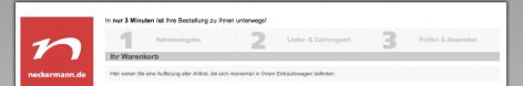 Progress Bar im Checkout - Neckermann