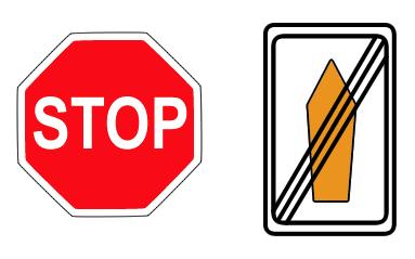Stopschild und Umlenkpfeil - Denken vermeiden