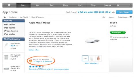 FAQs Produktdetailseite - Apple-Store