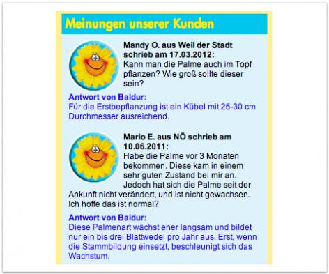 FAQs von Produktdetailseite - Baldur-Garten