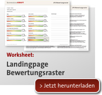 Landingpage Bewertungsraster Download