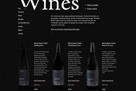 Feststehende Navigation E-Commerce Wines