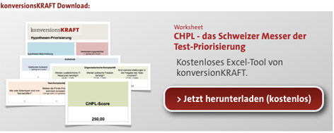 Hypothesen-Priorisierung Download Excel-Tool