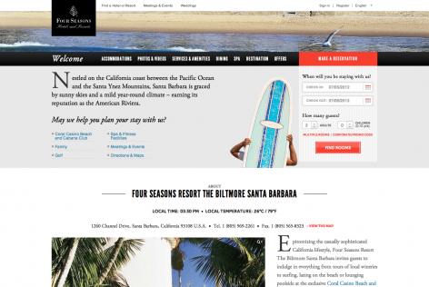 Feststehende Navigation E-Commerce FourSeasons
