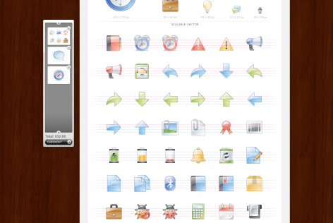 Feststehende Navigation E-Commerce Icondock