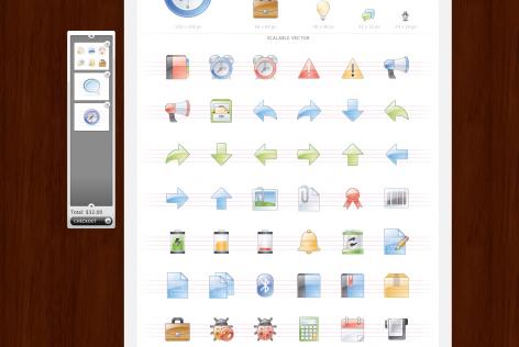 Feststehende Navigation E-Commerce Icondock