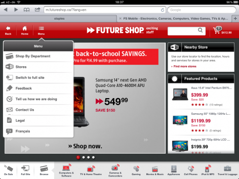 Futureshop Navi