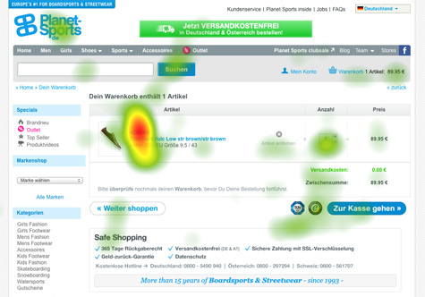 Trust-Elemente Heatmap Call-to-Action
