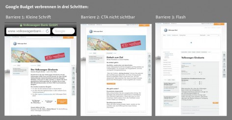 Mobile Landingpages - Barrieren