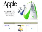 Die Homepage von apple.de, anno 2000