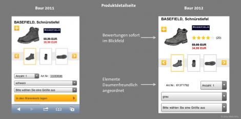 Baur Mobile 2012 - Produktdetailseite