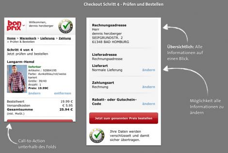 Mobile Checkout - BonPrix Bestellen