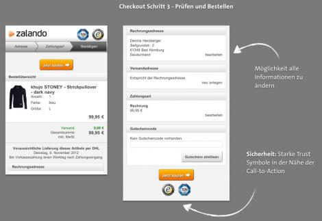 Mobile Checkout - Zalando Bestellen