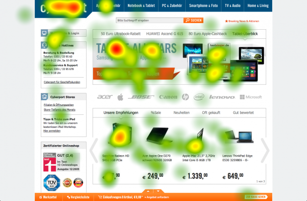 Eyetracking Heatmap Cyberport
