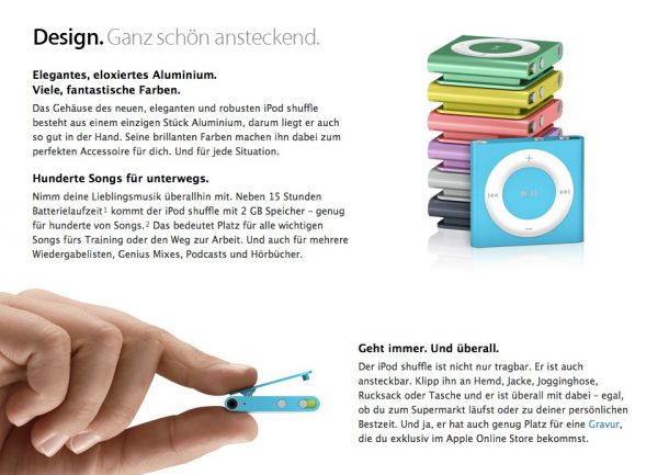 "Apple zeigt ""below the fold"" alle wichtigen Details"