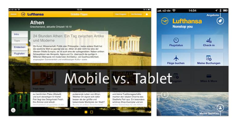 Mobile vs. Tablet