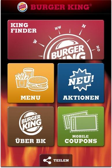 Burger King App Mobile Coupons
