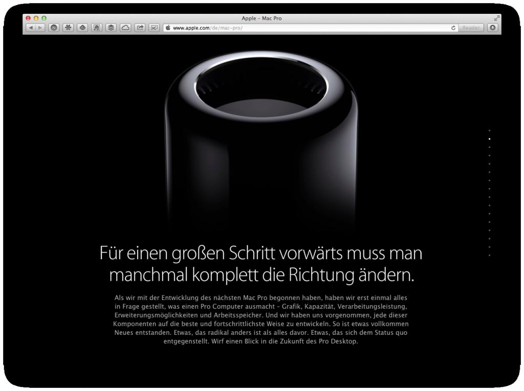 Apple Mac Pro Landingpage Seite 2