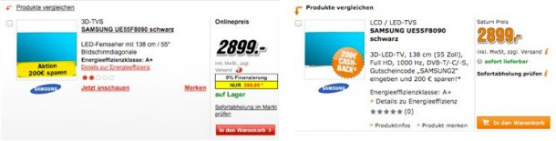 Elektronikanbieter Produktübersichtseite