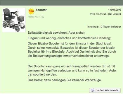 Rollator von PflegeDiscount.de