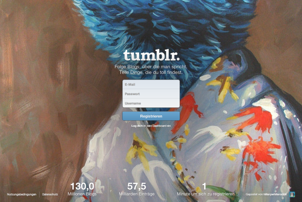 Tumblr Landing Page