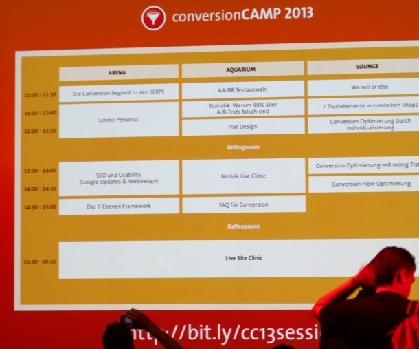 Conversion Camp 2013 Session Planung