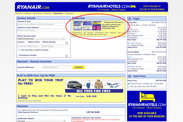 Ryanair Newsletter