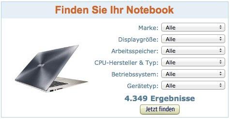 Amazon.de Filter