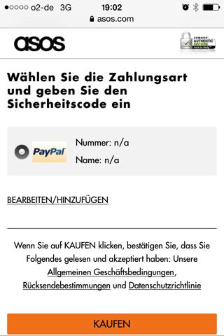 asos - PayPal Checkout