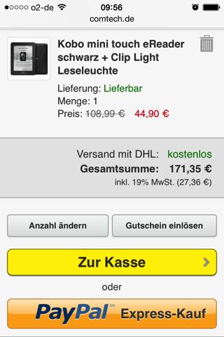 Comtech - Express-Kauf im Warenkorb