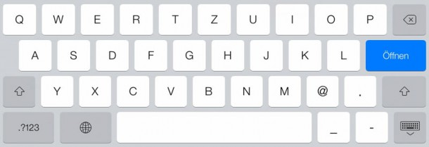 iPad Input Type mail