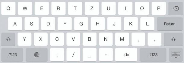 iPad Input Type url