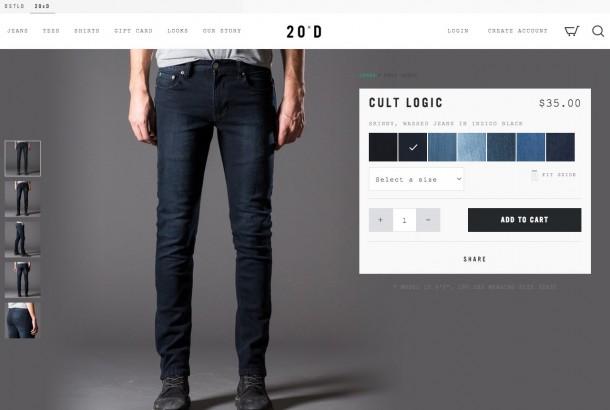 20 jeans Produktdetailseite